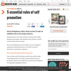 5 essential rules of self promotion