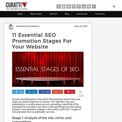 11 Essential SEO Promotion Stages For Your Website