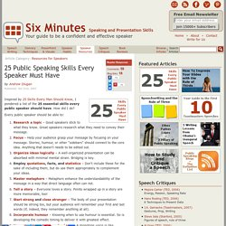 25 Essential Public Speaking Skills