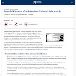 Essential Elements of an Effective CEO-Board Relationship