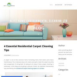 4 Essential Residential Carpet Cleaning Tips