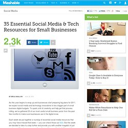 35 Essential Social Media & Tech Resources for Small Businesses