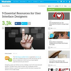 9 Essential Resources for User Interface Designers