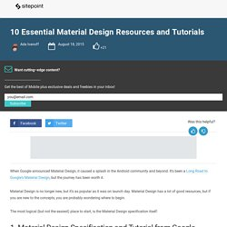 10 Essential Material Design Resources and Tutorials