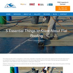 5 Essential Things to Know About Flat Roofing – Roofing Contractor