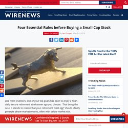 Rules For Buying a Small Cap Stock