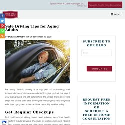 Essential Safety Tips for Senior Drivers