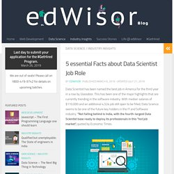 5 essential Facts about Data Scientist Job Role