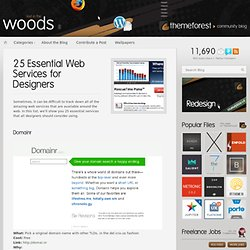 25 Essential Web Services for Designers