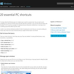20 essential PC shortcuts