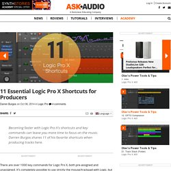 11 Essential Logic Pro X Shortcuts for Producers