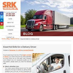 Essential Skills for a Delivery Driver