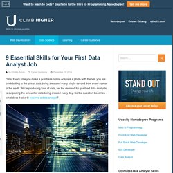 9 Essential Skills for Your First Data Analyst Job