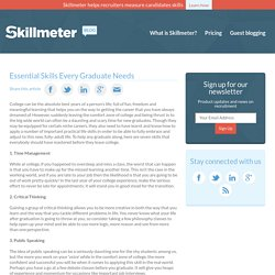 Essential Skills Every Graduate Needs
