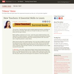 8 Essential Skills for New Teachers