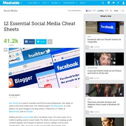 12 Essential Social Media Cheat Sheets