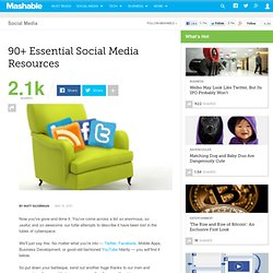 90+ Essential Social Media Resources