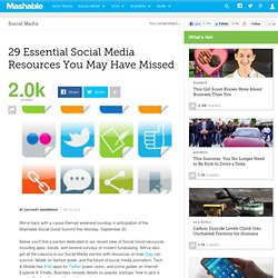 29 Essential Social Media Resources You May Have MIssed