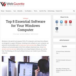 Top 8 Essential Software for Your Windows Computer