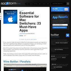 Essential Software for Mac Switchers: 23 Must-Have Apps