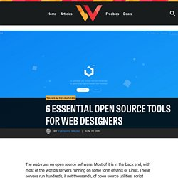 6 Essential Open Source Tools for Web Designers