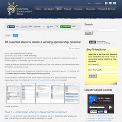 10 essential steps to create a winning sponsorship proposal - Practical Sponsorship Ideas