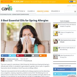 5 Best Essential Oils For Spring Allergies
