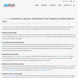 10 essential digital strategies for financial marketers in 2015