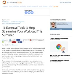 16 Essential Tools to Help Streamline Your Workload This Summer