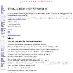 Essential jazz strings discography