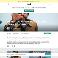 Essential Movies for a Student of Philosophy - Movies List on MUBI