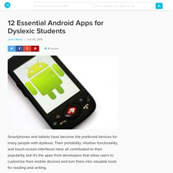 12 Essential Android Apps for Students with Dyslexia