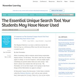 The Essential Unique Search Tool Your Students May Have Never Used - November Learning