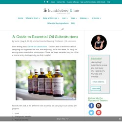 A Guide to Essential Oil Substitutions - Humblebee & Me