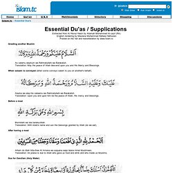 Essential Dua's in Islam (Prayers, Supplications)