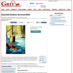 Essential Outdoor Survival Skills - Farm And Garden