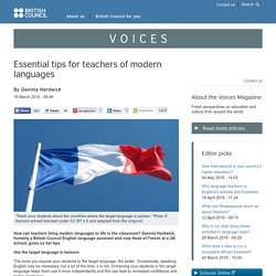 Essential tips for teachers of modern languages