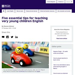 Five essential tips for teaching very young children English