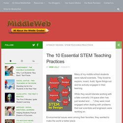 10 Essential STEM Teaching Practices