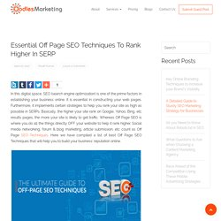 Essential Off Page SEO Techniques to Rank Higher in SERP