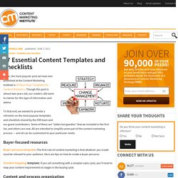 17 Essential Content Templates and Checklists