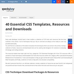 40 Essential CSS Templates, Resources and Downloads - Speckyboy Design Magazine