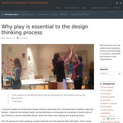 Why play is essential to the design thinking process – Design Thinking for Museums