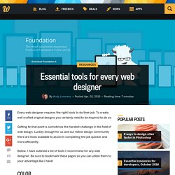 Essential tools for every web designer