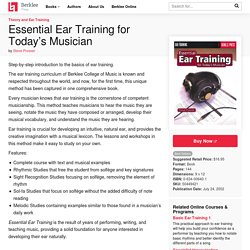 Essential Ear Training for Today's Musician.