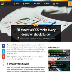 20 essential CSS tricks every designer should know – Medium