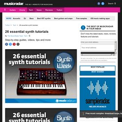 26 essential synth tutorials | Musicradar.com