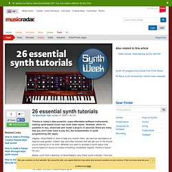 26 essential synth tutorials