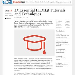 25 Essential HTML5 Tutorials and Techniques