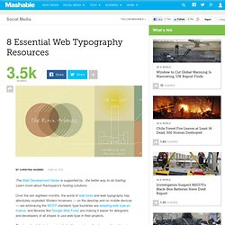 8 Essential Web Typography Resources